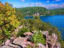 Parc d'état de lac devils le Wisconsin Photographie stock libre de droits