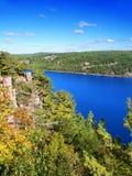 Parc d'état de lac devils le Wisconsin Image stock
