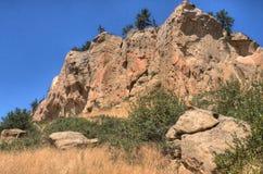 Parc d'état de pictographe en dehors de des facturations, Montana en été Photos libres de droits