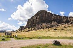Parc d'état de roche de tour au Montana photographie stock libre de droits