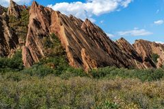 Parc d'état de Roxborough Denver Colorado photographie stock