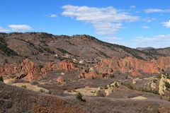 Parc d'état de Roxborough, le Colorado Photographie stock libre de droits