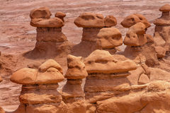 Parc d'état de vallée de lutin de porte-malheur d'observateurs Utah images stock