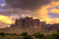 Parc d'état Région-perdu de Néerlandais de montagne d'AZ-superstition photos libres de droits
