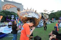 Parc d'événement de Mardi Gras Arts en Hong Kong Images libres de droits