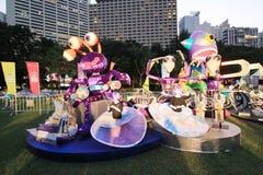 Parc d'événement de Mardi Gras Arts en Hong Kong Photo stock