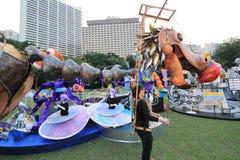 Parc d'événement de Mardi Gras Arts en Hong Kong Image stock