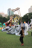 Parc d'événement de Mardi Gras Arts en Hong Kong Image libre de droits