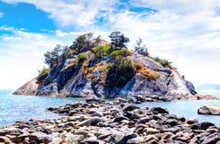 Parc d'îlot de Whytecliff près de la baie en fer à cheval à Vancouver occidental Image libre de droits