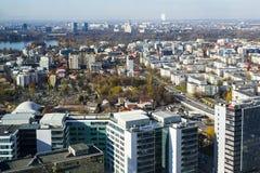 Parc d'affaires d'Aurel Vlaicu à Bucarest Photographie stock