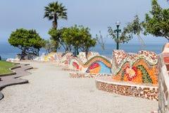 Parc d'amour dans Miraflores Lima Images libres de droits
