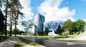 Parc d'attraction de l'eau dans la ville de station thermale de Druskininkai photographie stock