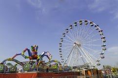 Parc d'attractions image libre de droits