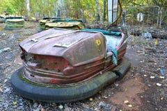 Parc d'attractions dans Pripyat, zone de Chornobyl Images libres de droits