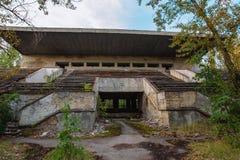 Parc d'attractions dans Pripyat zone d'exclusion de ville de fantôme de Chernobyl Images stock