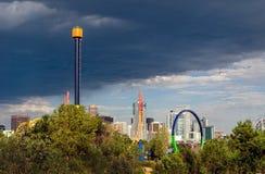 Parc d'attractions de jardins d'Elitch à Denver Images stock