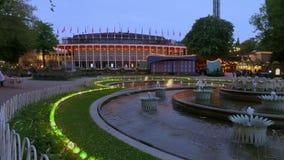 Parc d'attractions de Tivoli, Copenhague, Danemark, l'Europe banque de vidéos