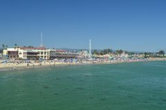 Parc d'attractions fantastique sur la plage de Santa Cruz 2 juillet 2017 Loisirs de vacances de voyage Photo stock
