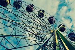 Parc d'attractions, grande roue Photos libres de droits