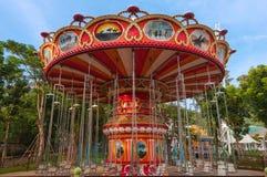 Parc d'attractions toujours de tour d'oscillation Image stock