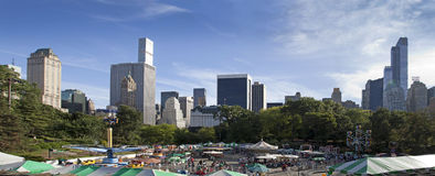 Parc d'attractions victorien de jardins dans le Central Park New York City Images libres de droits