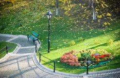 Parc d'automne Photos stock