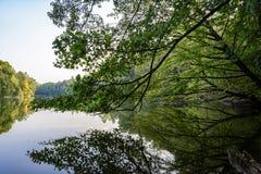 Parc d'automne Lac images libres de droits