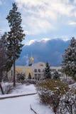 Parc d'hiver, manoir Images libres de droits