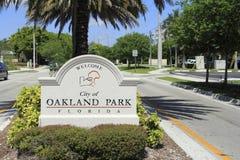 Parc d'Oakland, signe bienvenu de la Floride Photo stock