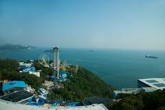 Parc d'océan et négligence de la mer de sud de la Chine sur la tour de parc d'océan de parc d'océan Image libre de droits