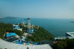 Parc d'océan et négligence de la mer de sud de la Chine sur la tour de parc d'océan de parc d'océan Photographie stock libre de droits