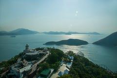Parc d'océan et négligence de la mer de sud de la Chine sur la tour de parc d'océan de parc d'océan Photos stock