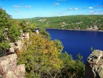 Parc d'état de lac devils le Wisconsin Images stock