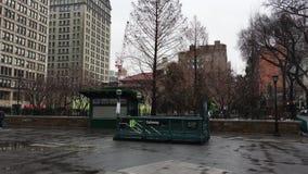 Parc d'Union Square, quart de cercle du nord-est clips vidéos