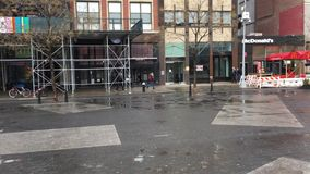Parc d'Union Square, quart de cercle du nord-ouest banque de vidéos