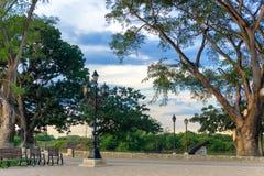 Parc dans Mompox, Colombie images libres de droits