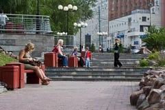 Parc dans Nizhni Novgorod Images stock