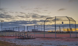 Parc de base-ball à l'aube Photo libre de droits