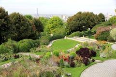 Parc de Belleville à Paris Photographie stock libre de droits