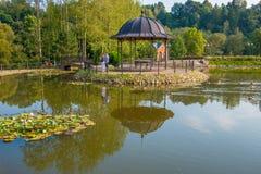 Parc de Belmontas, endroit à visiter à Vilnius Images libres de droits