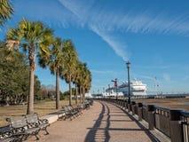 Parc de bord de mer à Charleston, la Caroline du Sud Image stock