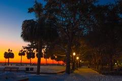 Parc de bord de mer, Charleston, Sc Images stock