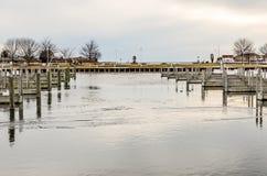 Parc de bord de mer dans Ludington, Michigan Image stock
