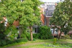 Parc de Burcht à Leyde, Pays-Bas Photographie stock