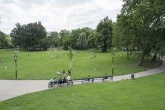 Parc de Burggarten à Vienne photographie stock