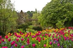 Parc de Butte-Chaumont de Paris Photo stock
