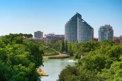 Parc de Capcalera à Valence, Espagne photographie stock libre de droits