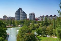 Parc de Capcalera à Valence, Espagne photos stock