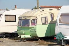 Parc de caravane de vintage Photo stock