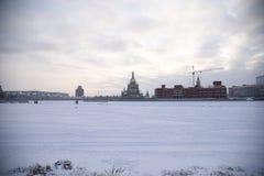 Parc de centre d'Iochkar-Ola - hiver Photo stock